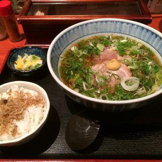 ねぎ豚そば+ミニご飯(蕎麦・酒膳 貴石 (【旧生そば 家庭料理 貴石】))