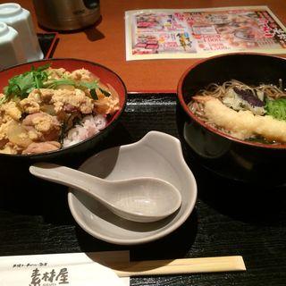 親子丼•天ぷらそばのセット(素材屋 大手町2号店 (ソザイヤ))