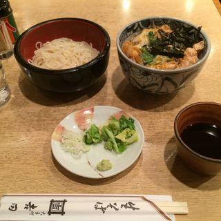 ミニ親子丼セット(生そば 吉田 (よしだ))