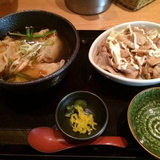 サンラー水餃子と豚マヨ丼のセット(咲くら 大手町店 (さくら))