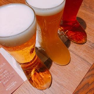 ビール飲み比べ(CRAFT BEER KOYOEN )
