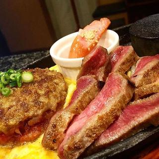 特選よくばりコラボセット(ハンバーグ+牛タン)(ベンジャミンランチ )