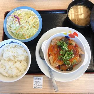 鶏の甘辛味噌定食(松屋 国分寺西元町店 )