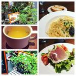茄子とほうれん草のクリームパスタ(バルコラメント )
