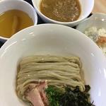 もっちり大麦小麦つけ麺奥三河鶏白湯甘醤油
