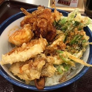 豚角煮天丼(みそ汁付)(天丼 てんや KITTE博多店)