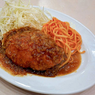 タイムランチ(ミンチカツ)(洋食 おなじみ )