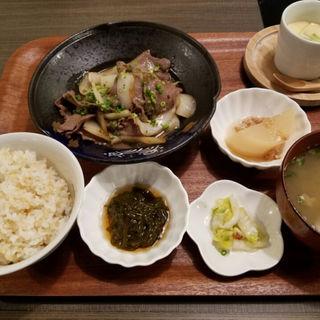 牛タン炒め御膳(益正 ゆめタウン博多店 (マスマサ))