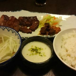 牛タン三昧定食(炭焼牛たん 東山 福岡天神店 )