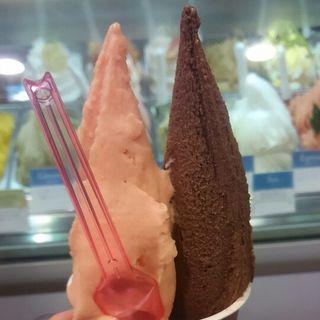 ブラッドオレンジとカカオソルベ(ViTO 天神西通り店)