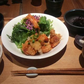 チキン南蛮定食ミックス(キャトルセゾン 旬 天神イムズ店 (Quatre Saisons Shun シュン))