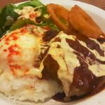 BBQソースのロコモコ(#602 CAFE&DINER 福岡天神 (ロクマルニ カフェアンドダイナー))