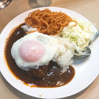 ハンバーグ丼&目玉焼き(むさしや )