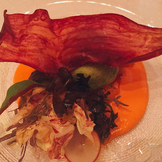 ポテトと白身魚のブランダード チポトレソース パプリカのアンチョビマリネ添え(ザ・ロビー (The Peninsula Tokyo The Lobby))