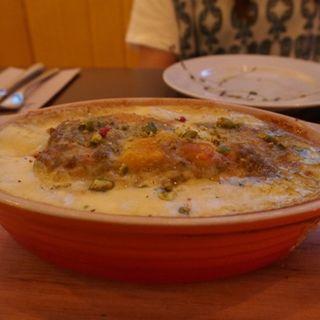大山地鶏と九重栗南瓜、ピスタチオクリームのラザーニャ(ラザーニャ・ラザーニャ )