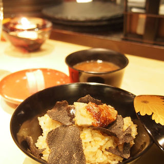 フォアグラとトリュフのコンソメ土鍋炊きご飯(Bistro 釜津田 (ビストロ カマツダ))