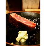 霜降りの和牛ステーキ