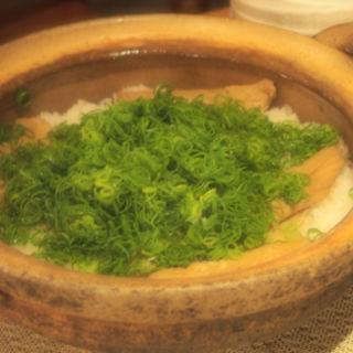 蒸し穴子の土鍋ご飯(なすび亭 (なすびてい))