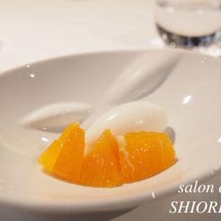 柑橘とレモングラスのソルベ と 紅あずま(モトイ (MOTOI))