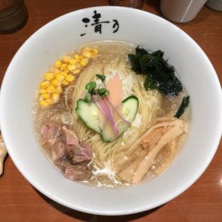 鯛煮干しの冷やしらーめん(清乃 近鉄百貨店和歌山店)