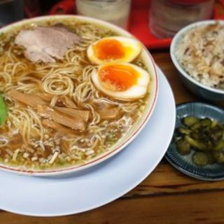 ランチセット(煮卵入)(みずさわ屋)