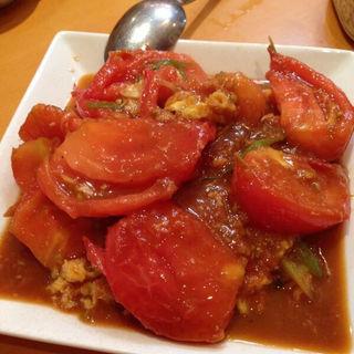トマトと卵の炒め物(王家餃子)