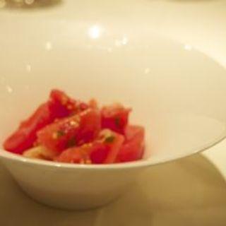 フルーツトマトの冷製パスタ(リストランテ・ヒロ  青山)