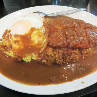 カツカレー+目玉焼き(カレーショップ 英登)