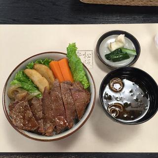 国産牛 ステーキ丼(二光堂 寶来亭)