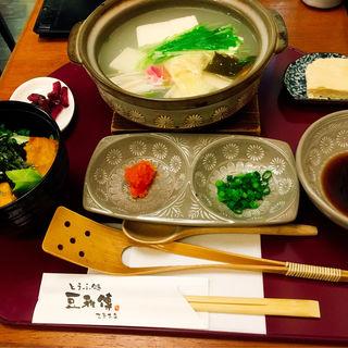 湯豆腐セット(とうふ処 豆雅傳 (とうがでん))