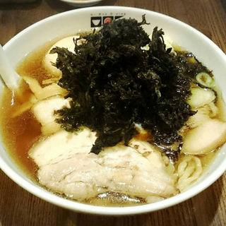 岩のり煮干しラーメン(太麺)+味玉 (晴天の風 (セイテンノカゼ))