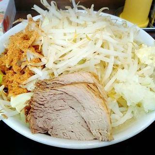 塩豚そば(野菜増し、ニンニク少なめ)(麺や土門 (ドモン))