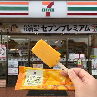 まるでマンゴーを冷凍したような食感のアイスバー(セブンイレブン 立川幸町3丁目店)