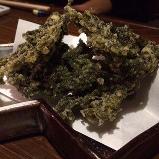 生岩のりの天ぷら(肉うどんの戸上家 (にくうどんのとがみや))