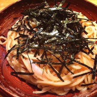 タラコとイカのスパゲッティ(HASHIYA)