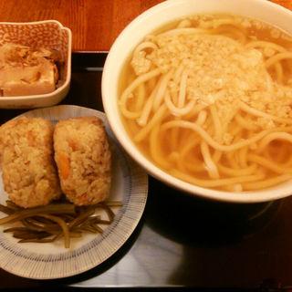 かしわ飯にぎり定食(因幡うどん 博多駅店)