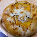かぼちゃのチーズグラタンベーグル