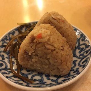 かしわ飯おにぎり(因幡うどん ソラリアステージ店 (いなばうどん))
