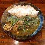 インド風カレー 牛すじ+野菜+サグソース