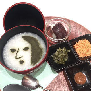 京のやさしい朝粥セット(よーじやカフェ 羽田空港第一ターミナル店)