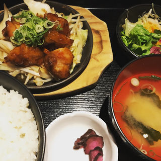 若鶏の甘酢あん炒め定食(喰人 東通り店 (イートマン))