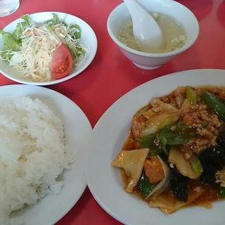 B定食(鳥ひき肉と揚げ豆腐の辛し煮)(江南春 )