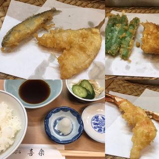 天ぷら定食(昼)(喜楽 (きらく))