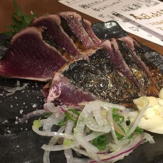 藁焼き鰹のタタキ(塩)8キレ(藁焼き鰹たたき 明神丸 西新宿店)