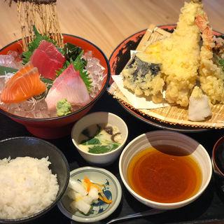 天ぷら刺身定食(いわて三陸水産組合 )