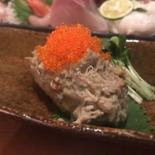 ズワイ蟹のなめろう(魚輝 (ウオテル))