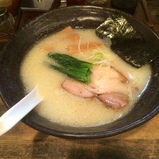 濃厚鶏ペジポタ系塩ラーメン(らーめん食堂 えだぐち )