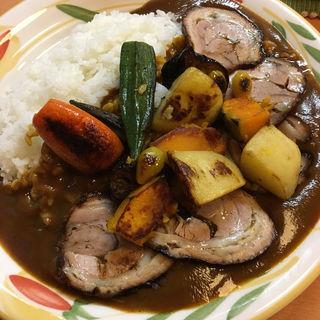野菜カレー+チャーシュー(クミン )
