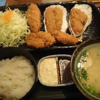日本一のカキフライ定食(北海道厚岸日本橋本店)