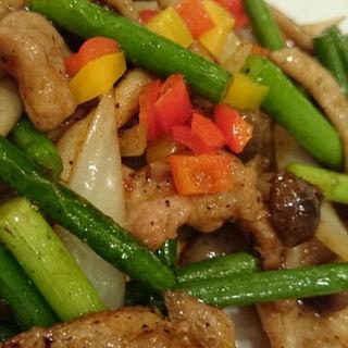 豚肉と彩り野菜の黒胡椒炒め(後楽園飯店 (コウラクエンハンテン))